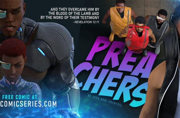 Preachers are portrayed as superheroes or characters with super abilities.